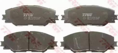 TRW GDB3424 - Kit de plaquettes de frein, frein à disque www.widencarpieces.com