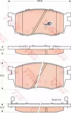 TRW GDB3420 - Kit de plaquettes de frein, frein à disque www.widencarpieces.com