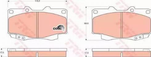 TRW GDB3428 - Kit de plaquettes de frein, frein à disque www.widencarpieces.com