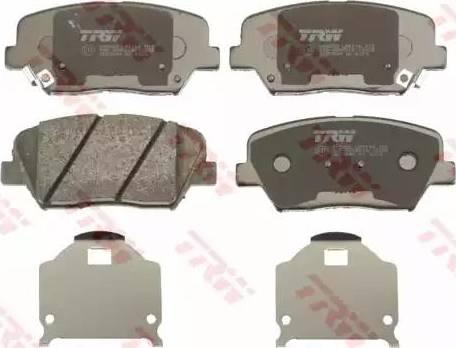 TRW GDB3549 - Kit de plaquettes de frein, frein à disque www.widencarpieces.com