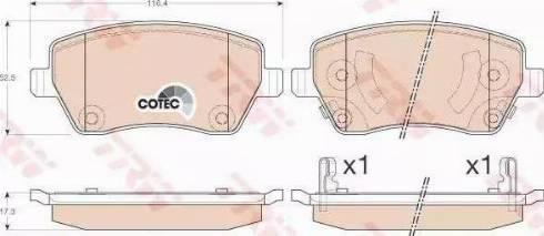 TRW GDB3546 - Kit de plaquettes de frein, frein à disque www.widencarpieces.com