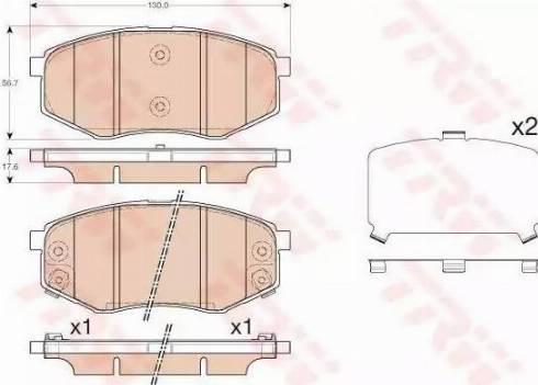 TRW GDB3553 - Kit de plaquettes de frein, frein à disque www.widencarpieces.com
