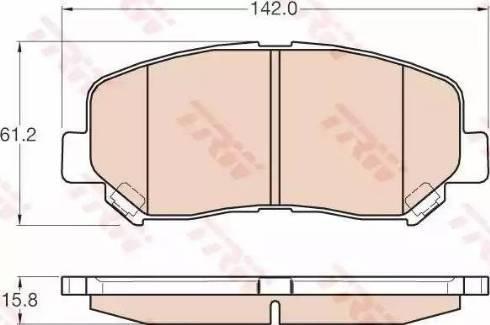 TRW GDB3562 - Kit de plaquettes de frein, frein à disque www.widencarpieces.com