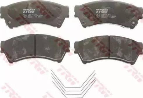 TRW GDB3501 - Kit de plaquettes de frein, frein à disque www.widencarpieces.com