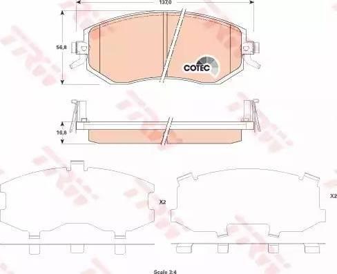 TRW GDB3519 - Kit de plaquettes de frein, frein à disque www.widencarpieces.com