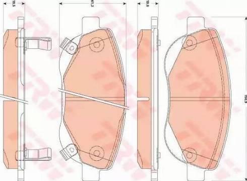 TRW GDB3511 - Kit de plaquettes de frein, frein à disque www.widencarpieces.com