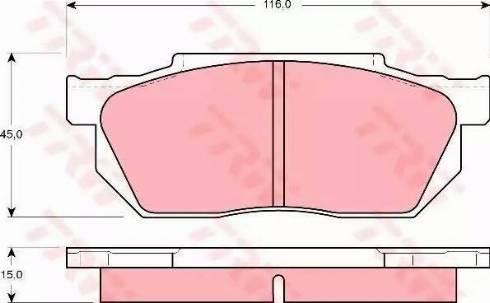 TRW GDB358 - Kit de plaquettes de frein, frein à disque www.widencarpieces.com