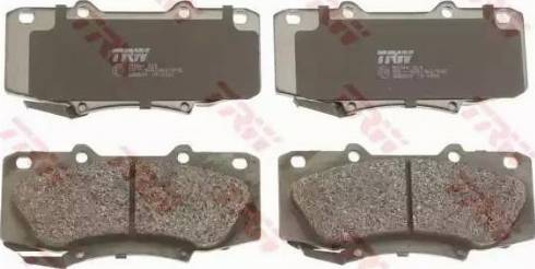 TRW GDB3534 - Kit de plaquettes de frein, frein à disque www.widencarpieces.com