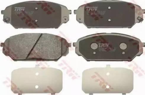 TRW GDB3527 - Kit de plaquettes de frein, frein à disque www.widencarpieces.com