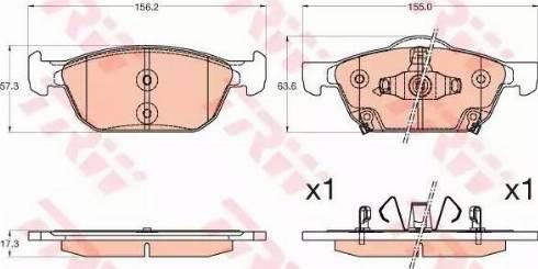 TRW GDB3600 - Kit de plaquettes de frein, frein à disque www.widencarpieces.com