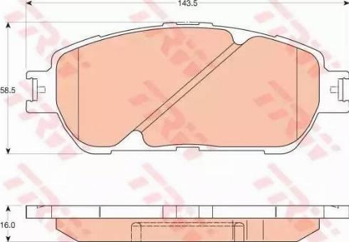 TRW GDB3610 - Kit de plaquettes de frein, frein à disque www.widencarpieces.com