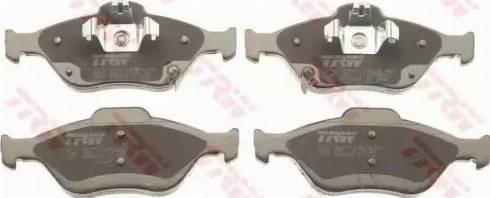 TRW GDB3625 - Kit de plaquettes de frein, frein à disque www.widencarpieces.com