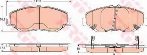 TRW GDB3627 - Kit de plaquettes de frein, frein à disque www.widencarpieces.com