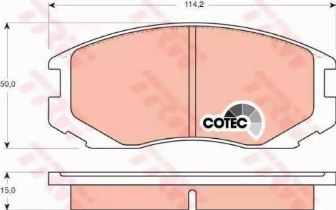 TRW GDB3046 - Kit de plaquettes de frein, frein à disque www.widencarpieces.com
