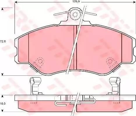 TRW GDB3089 - Kit de plaquettes de frein, frein à disque www.widencarpieces.com