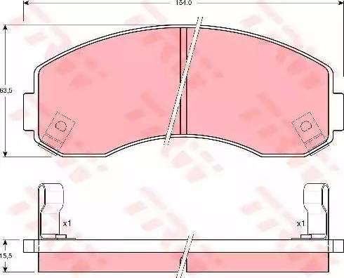 TRW GDB3145 - Kit de plaquettes de frein, frein à disque www.widencarpieces.com