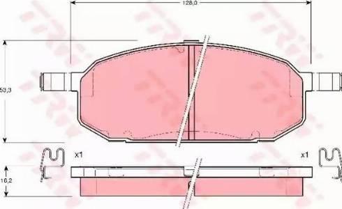 TRW GDB3153 - Kit de plaquettes de frein, frein à disque www.widencarpieces.com