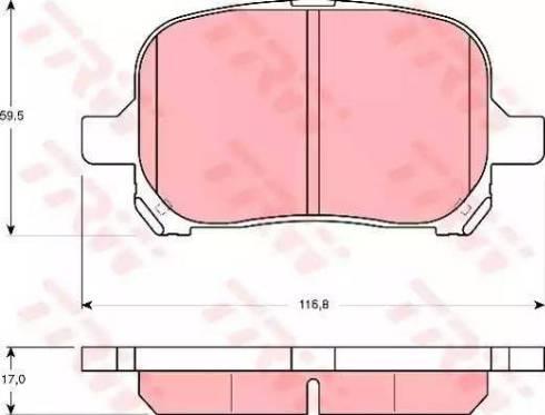 TRW GDB3152 - Kit de plaquettes de frein, frein à disque www.widencarpieces.com