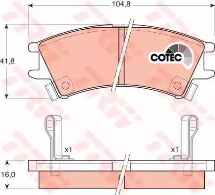 TRW GDB3165 - Kit de plaquettes de frein, frein à disque www.widencarpieces.com
