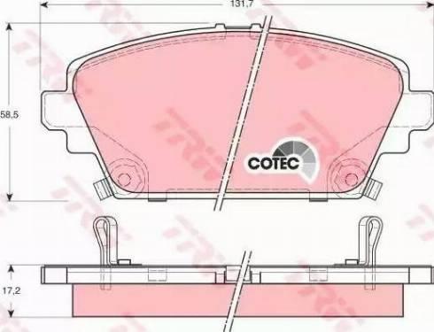 TRW GDB3186 - Kit de plaquettes de frein, frein à disque www.widencarpieces.com