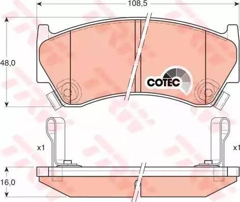 TRW GDB3180 - Kit de plaquettes de frein, frein à disque www.widencarpieces.com