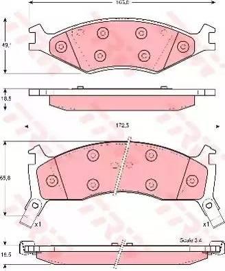 TRW GDB3123 - Kit de plaquettes de frein, frein à disque www.widencarpieces.com