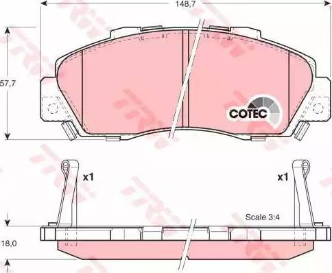 TRW GDB3177 - Kit de plaquettes de frein, frein à disque www.widencarpieces.com