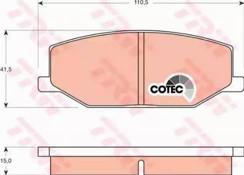 TRW GDB383 - Kit de plaquettes de frein, frein à disque www.widencarpieces.com