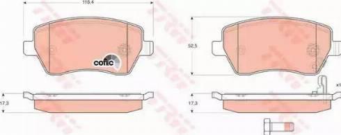 TRW GDB3396 - Kit de plaquettes de frein, frein à disque www.widencarpieces.com