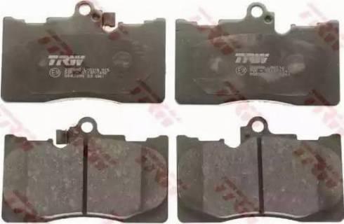 TRW GDB3398 - Kit de plaquettes de frein, frein à disque www.widencarpieces.com