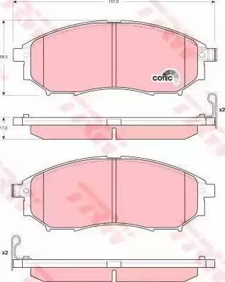 TRW GDB3392 - Kit de plaquettes de frein, frein à disque www.widencarpieces.com