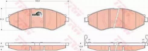 TRW GDB3347 - Kit de plaquettes de frein, frein à disque www.widencarpieces.com