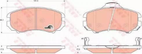 TRW GDB3352 - Kit de plaquettes de frein, frein à disque www.widencarpieces.com