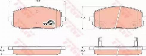 TRW GDB3369 - Kit de plaquettes de frein, frein à disque www.widencarpieces.com