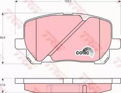 TRW GDB3315 - Kit de plaquettes de frein, frein à disque www.widencarpieces.com