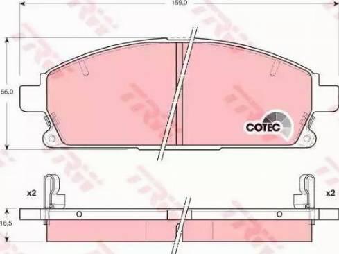 TRW GDB3312 - Kit de plaquettes de frein, frein à disque www.widencarpieces.com
