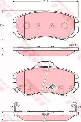 TRW GDB3386 - Kit de plaquettes de frein, frein à disque www.widencarpieces.com
