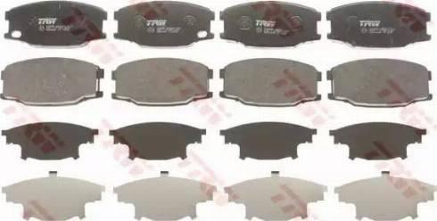 TRW GDB3388 - Kit de plaquettes de frein, frein à disque www.widencarpieces.com