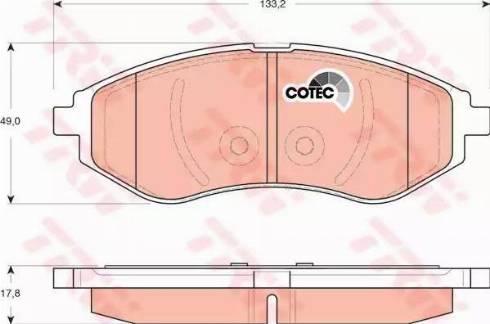 TRW GDB3330 - Kit de plaquettes de frein, frein à disque www.widencarpieces.com