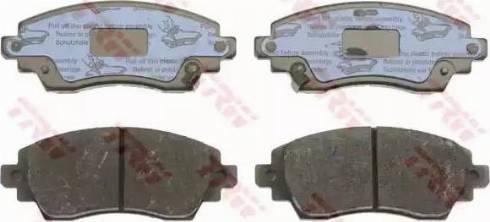 TRW GDB3333 - Kit de plaquettes de frein, frein à disque www.widencarpieces.com