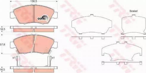TRW GDB3375 - Kit de plaquettes de frein, frein à disque www.widencarpieces.com