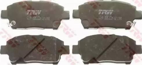 TRW GDB3242 - Kit de plaquettes de frein, frein à disque www.widencarpieces.com