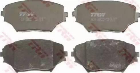 TRW GDB3251 - Kit de plaquettes de frein, frein à disque www.widencarpieces.com