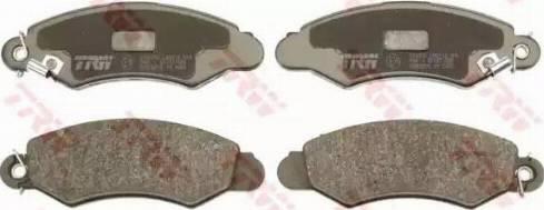 TRW GDB3215 - Kit de plaquettes de frein, frein à disque www.widencarpieces.com
