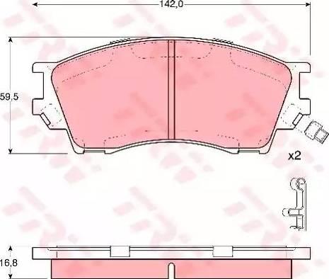 TRW GDB3230 - Kit de plaquettes de frein, frein à disque www.widencarpieces.com