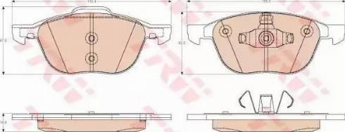 TRW GDB2011 - Kit de plaquettes de frein, frein à disque www.widencarpieces.com