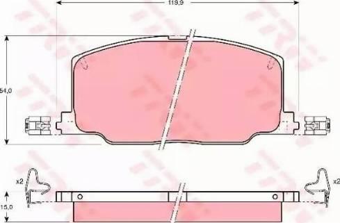 TRW GDB798 - Kit de plaquettes de frein, frein à disque www.widencarpieces.com