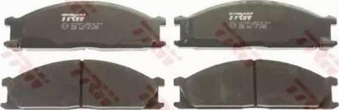 TRW GDB766 - Kit de plaquettes de frein, frein à disque www.widencarpieces.com