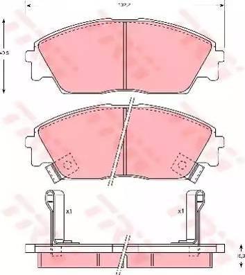 TRW GDB763 - Kit de plaquettes de frein, frein à disque www.widencarpieces.com