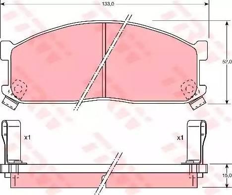 TRW GDB737 - Kit de plaquettes de frein, frein à disque www.widencarpieces.com